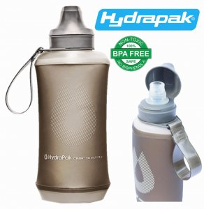 BUTELKA BIDON KOMPRESYJNY HYDRAPAK CRUSH 500ml MAMMOTH GREY