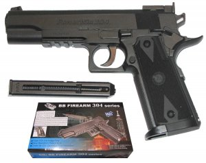 PISTOLET WIATRÓWKA 4,5MM C1911 CO2 FIREARM 304 952