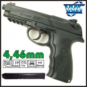 PISTOLET WIATRÓWKA CO2 SPORT 306 FULL METAL WINGUN BERETTA 90TWO