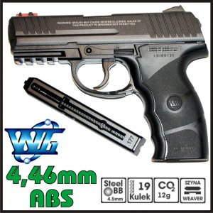 PISTOLET WIATRÓWKA CO2 W3000, HK-P3000 WINGUN 4,5 mm ABS